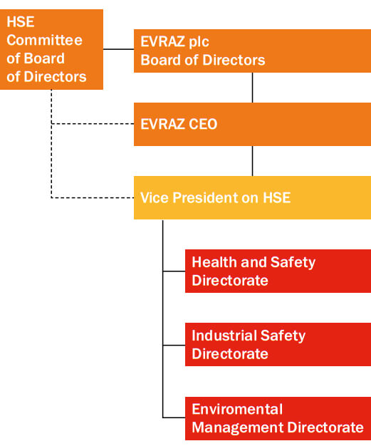 HSE corporate management structure
